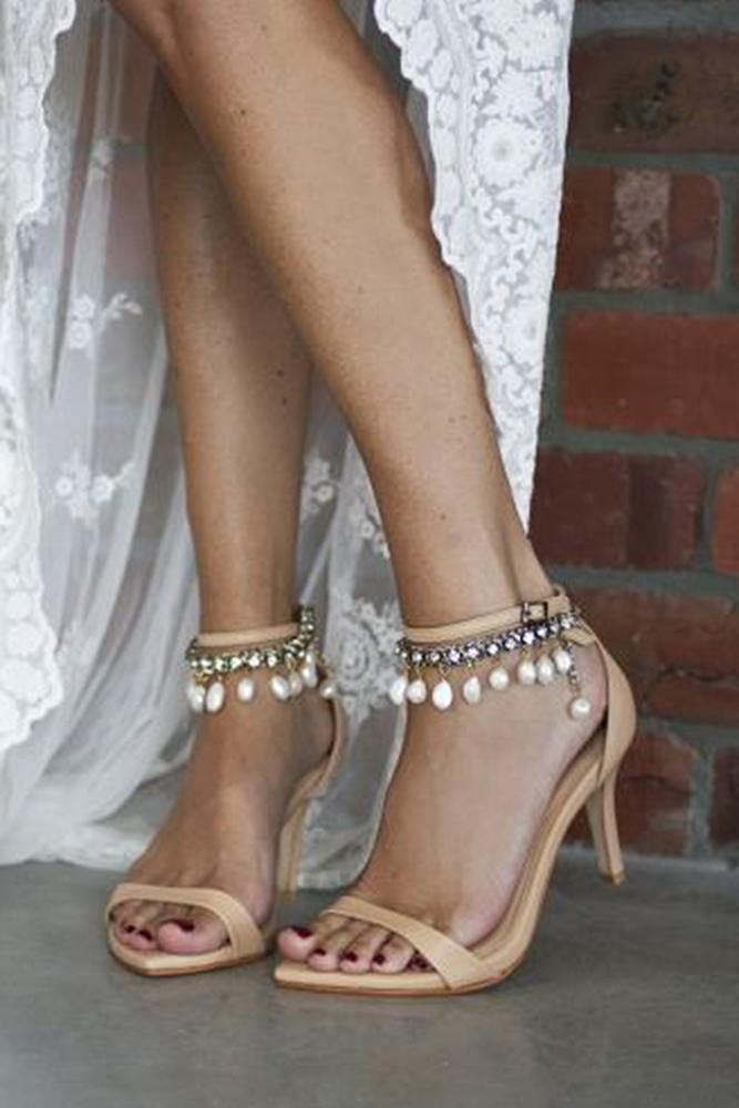 beach wedding shoes with heels beige stones grace love lace