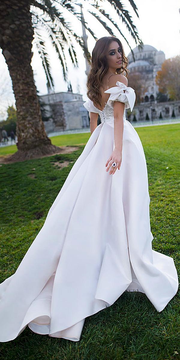 blammo biamo wedding dresses a line off the shoulder romantic simple 2018