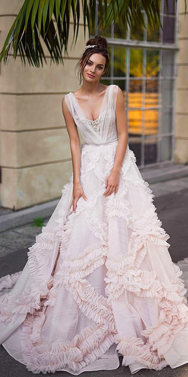 blammo biamo wedding dresses a line pink unique 2018