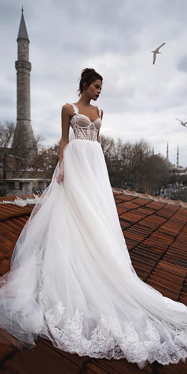 blammo biamo wedding dresses a line with spaghetti straps romantic 2018