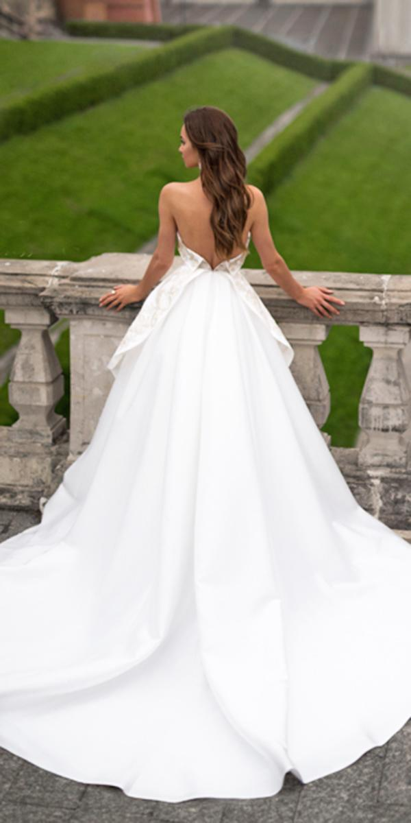 blammo biamo wedding dresses ball gown backless modest 2018