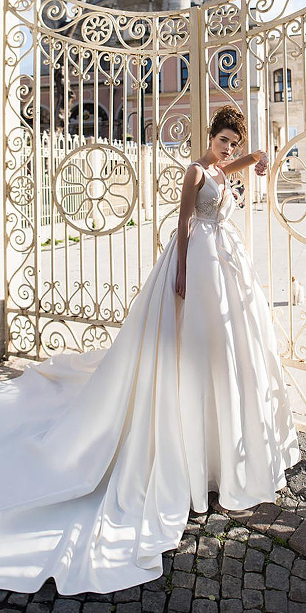 blammo biamo wedding dresses ball gown simple with train 2018