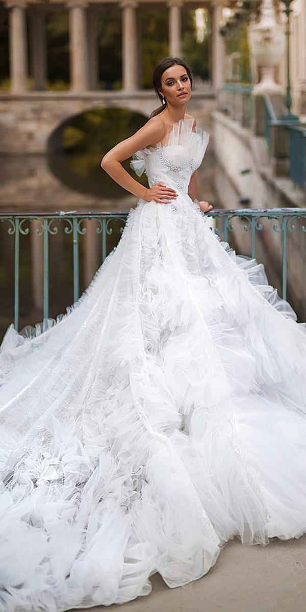 blammo biamo wedding dresses ball gown strapless unique 2018