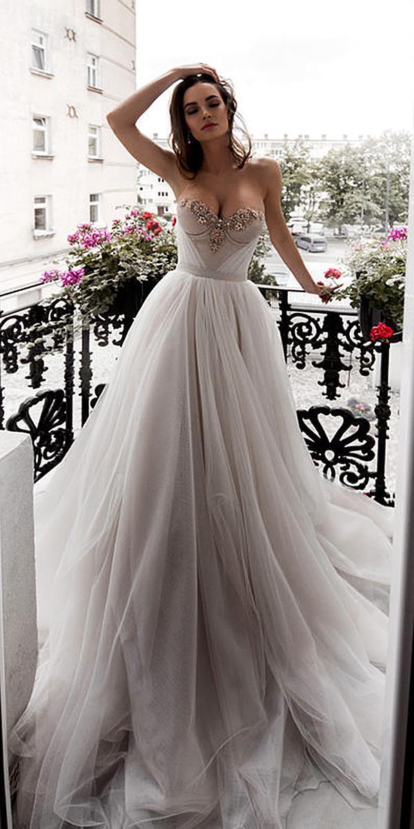 blammo biamo wedding dresses strapless sweetheart tulle skirt simple 2018