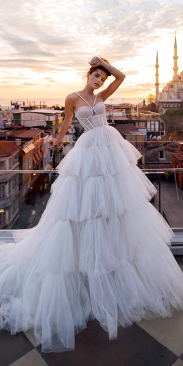blammo biamo wedding dresses sweetheart simple ruffled skirt 2018 popular