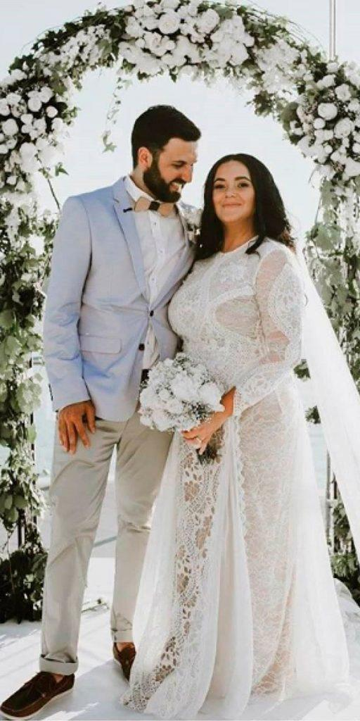 boho wedding dresses a line lace plus size with sleeves grace loves lace