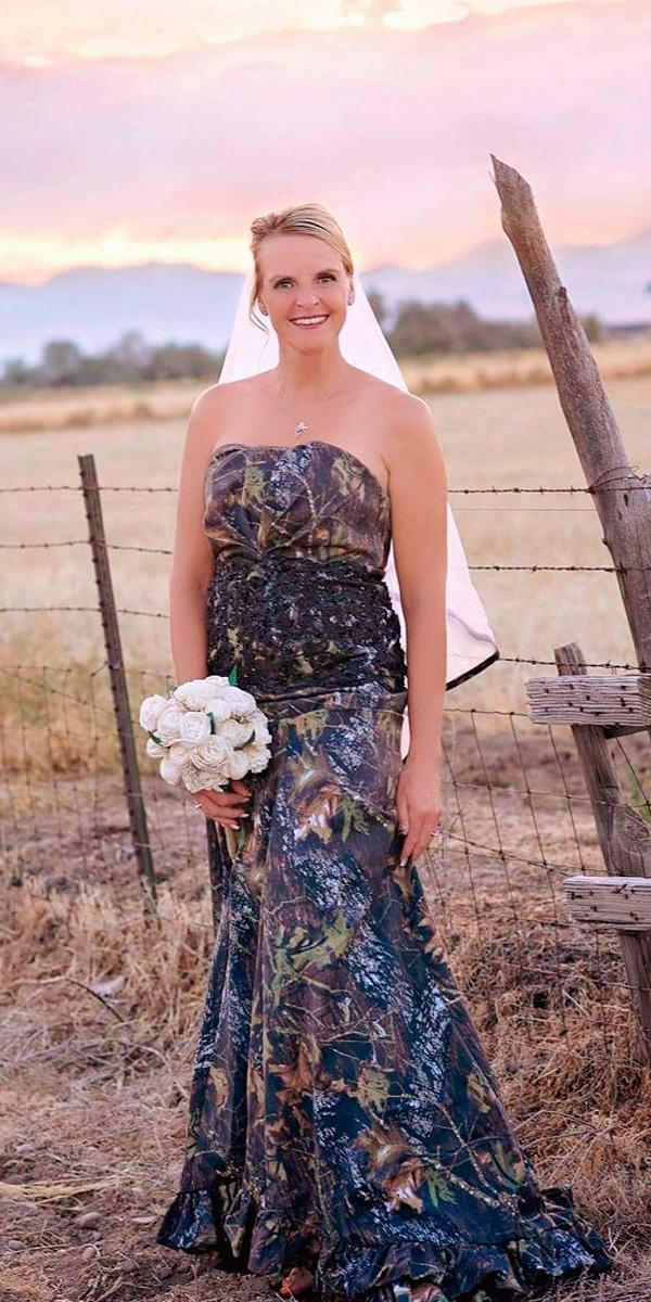 country camo wedding dresses mermaid strapless sammyg