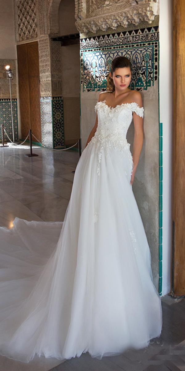 giovanna alessandro wedding dresses a line off the shoulder floral romantic