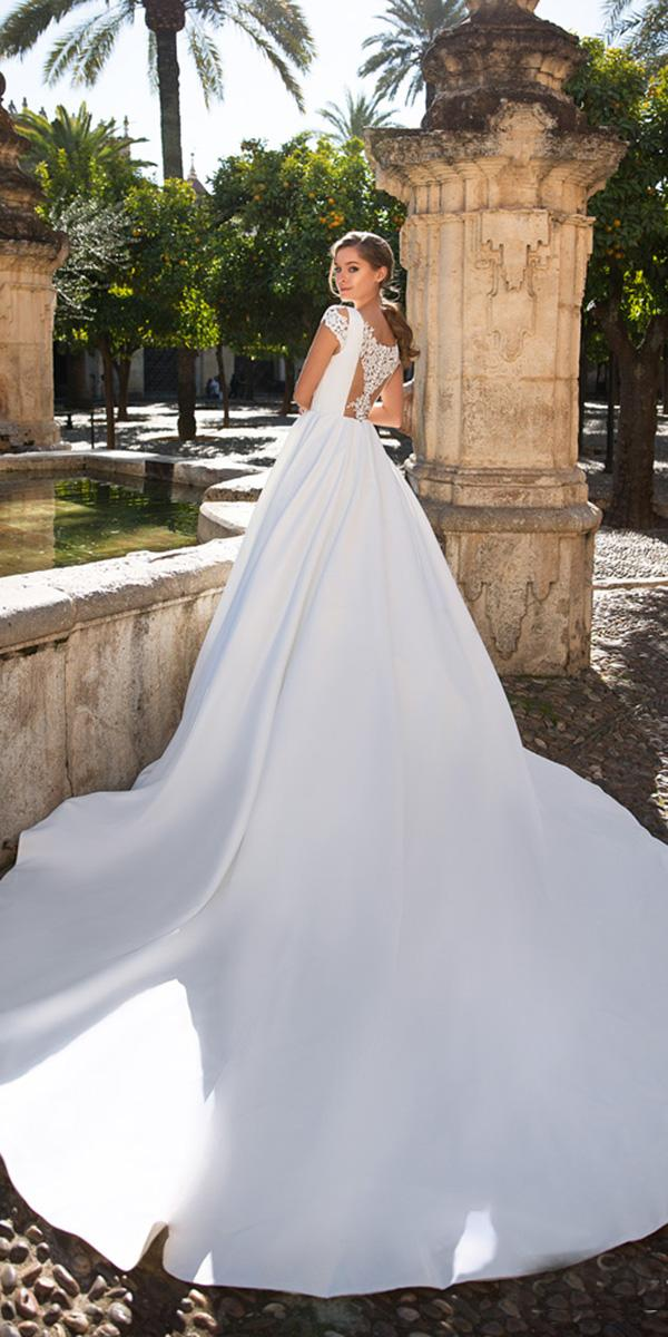 giovanna alessandro wedding dresses ball gown with cap sleeves simple lace back