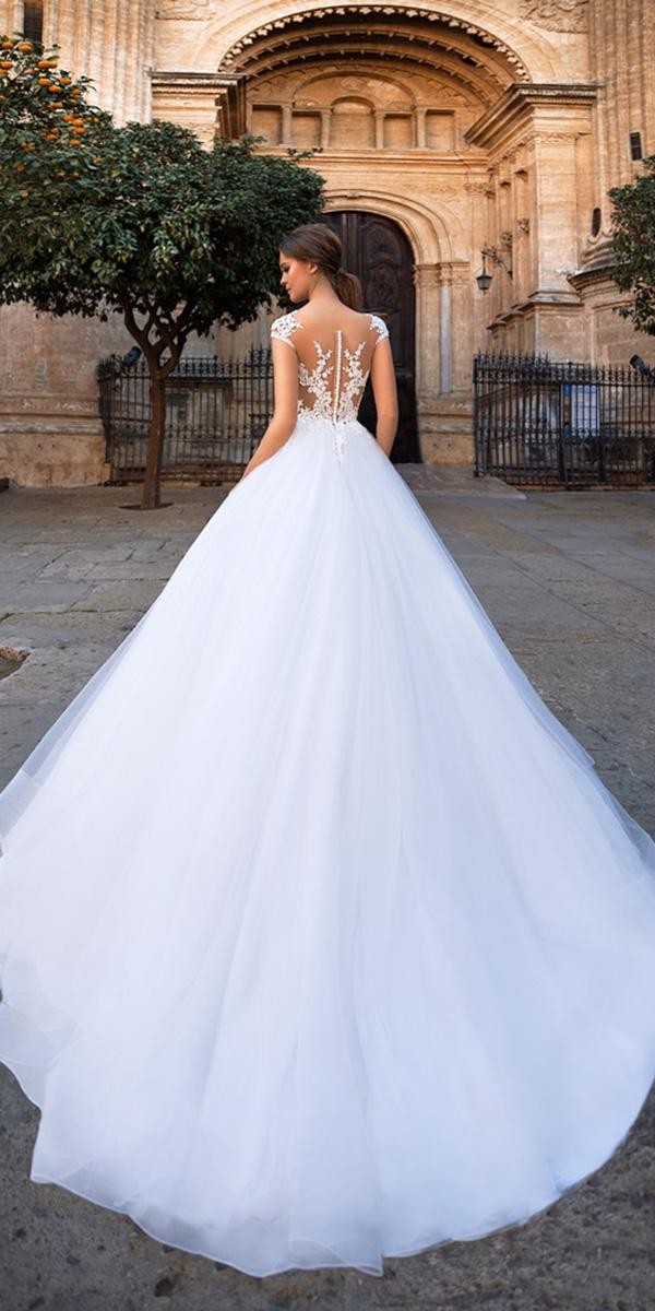 giovanna alessandro wedding dresses ball gown with cap sleeves tattoo effect back 2018