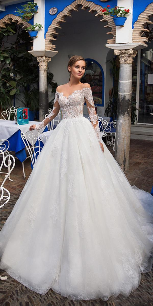 giovanna alessandro wedding dresses ball gown with long sleeves lace 2018