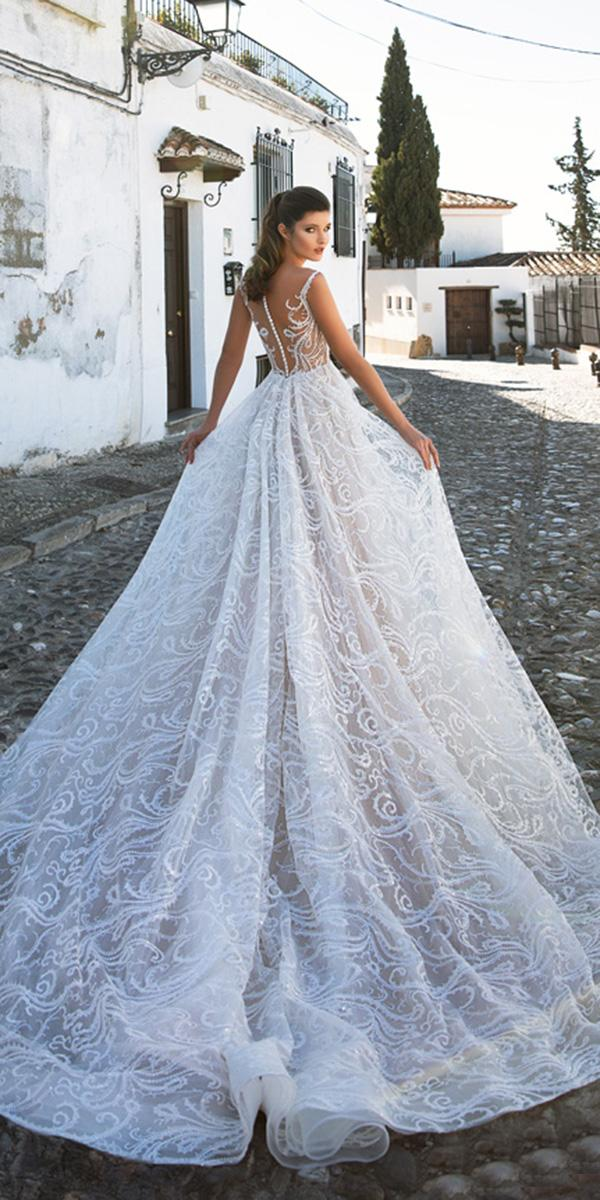 giovanna alessandro wedding dresses ball gown with tattoo effect back lace 2018