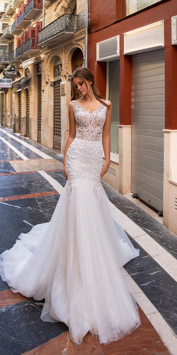 giovanna alessandro wedding dresses mermaid full lace romantic beach 2018
