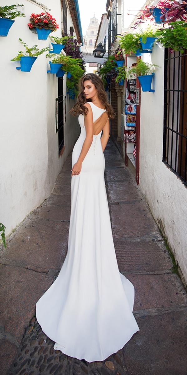 giovanna alessandro wedding dresses sheath open back simple 2018