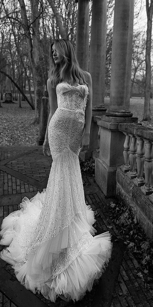 inbal dror wedding dresses mermaid strapless unique lace 2018 beach
