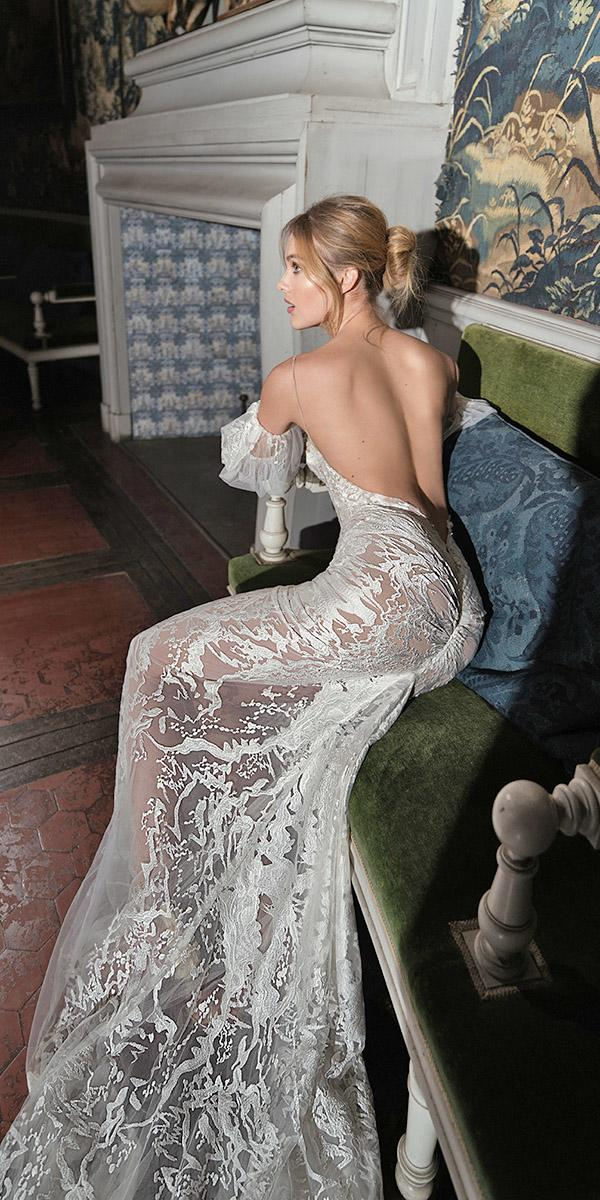 inbal dror wedding dresses sheath off the shoulder with spaghetti straps backless sexy
