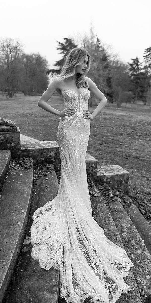 inbal dror wedding dresses sweetheart strapless unique with train 2018