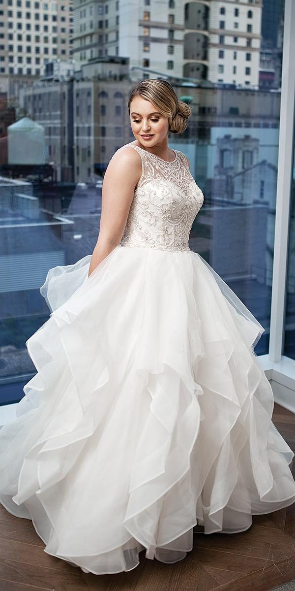 justin alexander wedding dresses 2018 iskra for plus size ball gown illusion neckline beaded top tulle skirt