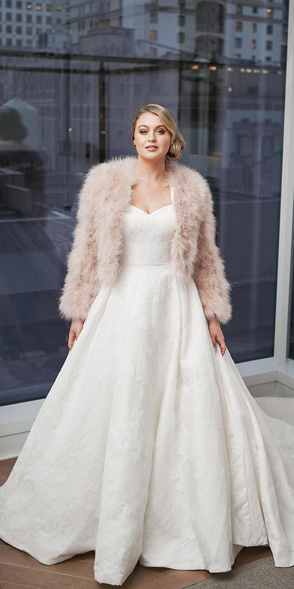 justin alexander wedding dresses 2018 iskra ball gown sweetheart modest with fur for plus size