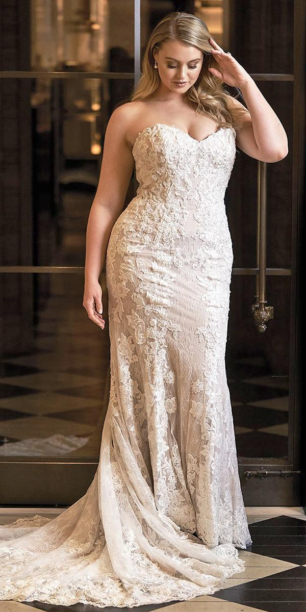 justin alexander wedding dresses 2018 iskra fit and flare sweetheart beaded lace appliques plus size