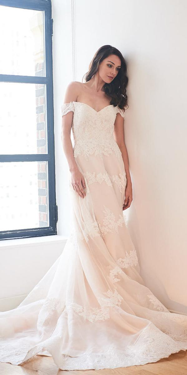 kelly faetanini wedding dresses ball gown off the shoulder lace 2018