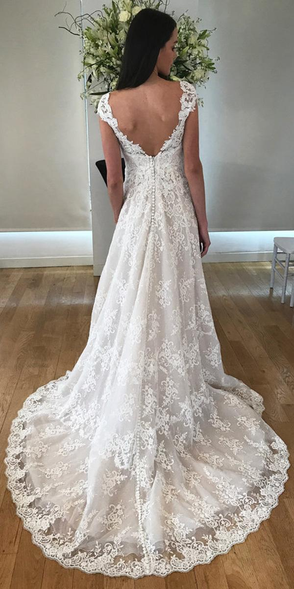 kelly faetanini wedding dresses slim ball gown v back lace champagne 2018