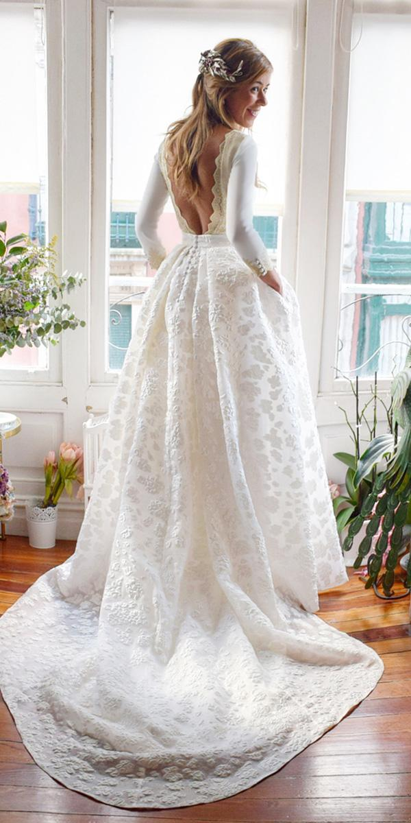 lace bridal gowns a line v back with long sleeves alicia rue daatelier