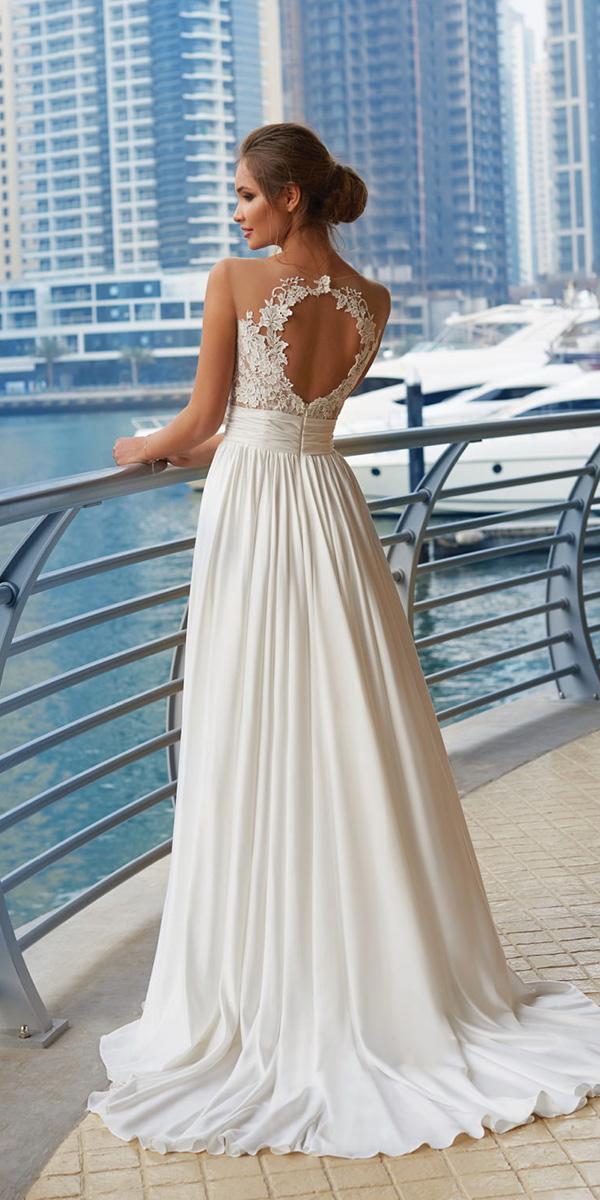 lanesta wedding dresses a line open back lace embellishment 2018