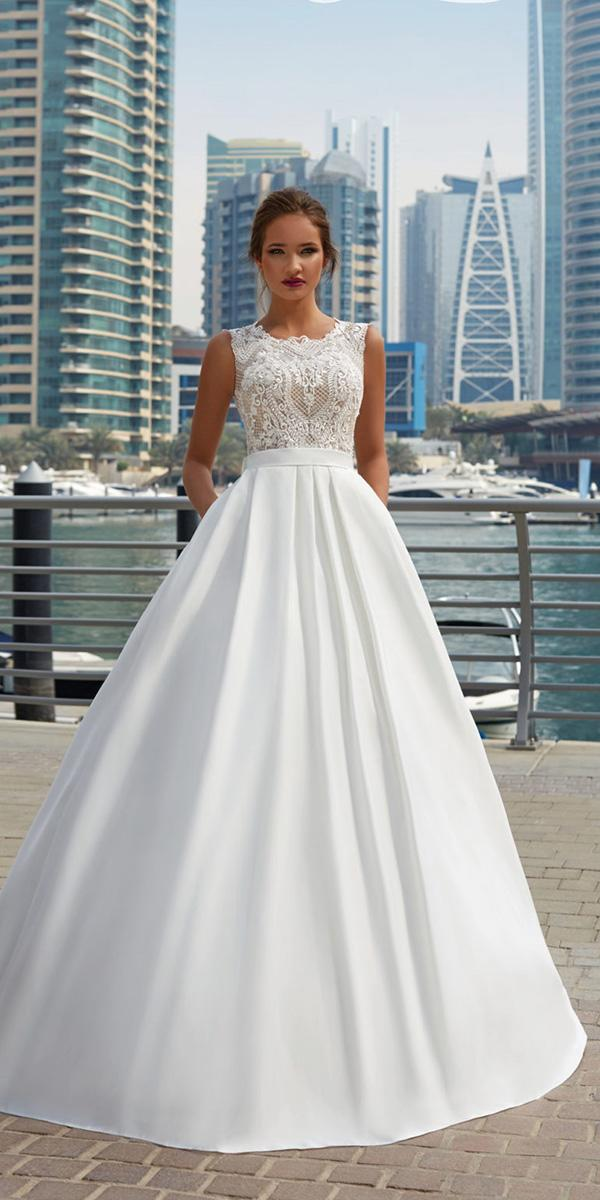 lanesta wedding dresses ball gown lace top sleveless 2018