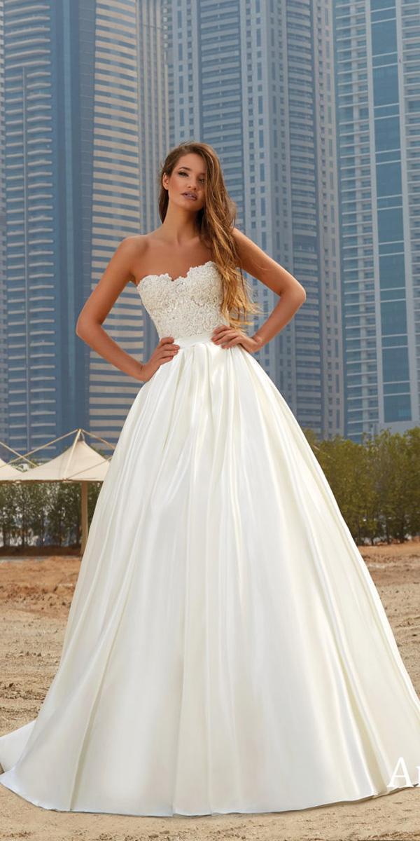 lanesta wedding dresses ball gown strapless elegant 2018