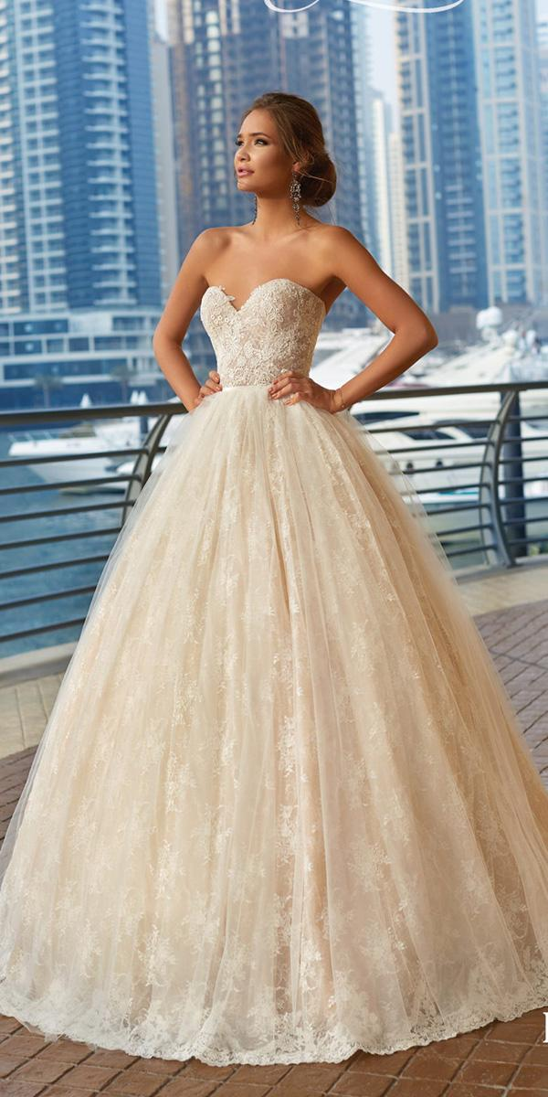 lanesta wedding dresses ball gown sweetheart strapless full lace 2018