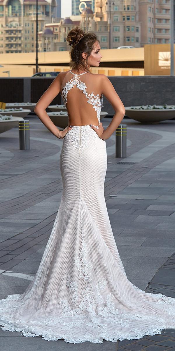 lanesta wedding dresses mermaid open back lace sexy beach 2018