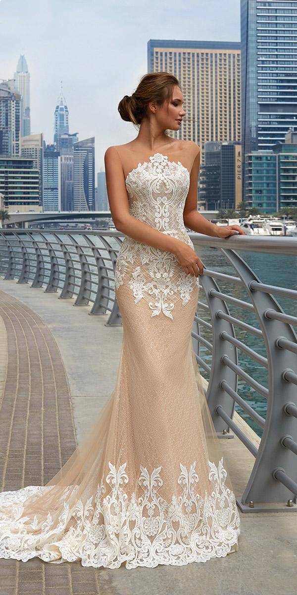 lanesta wedding dresses sheath lace beach sexy 2018