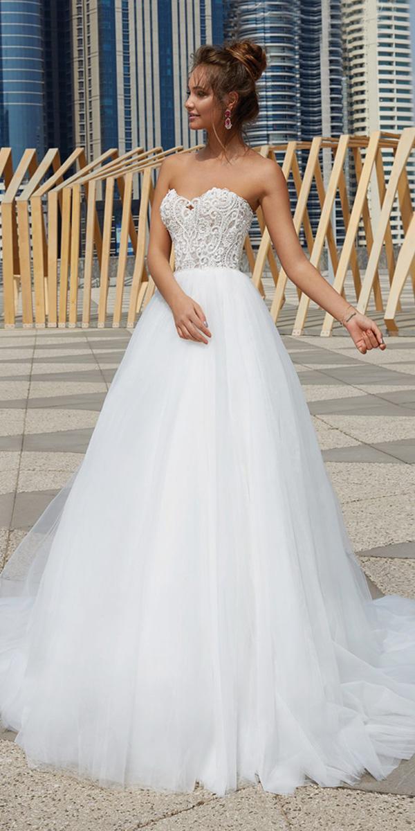 lanesta wedding dresses sweetheart lace top tulle skirt elegant