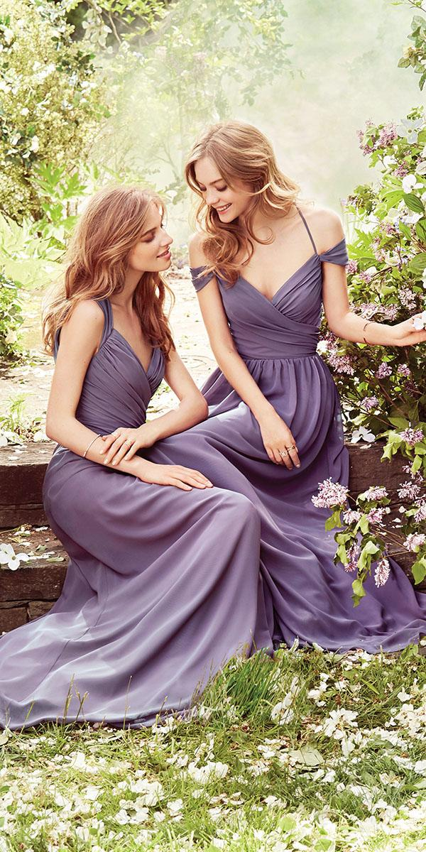 lavender bridesmaid dresses dark long with straps hayley paige