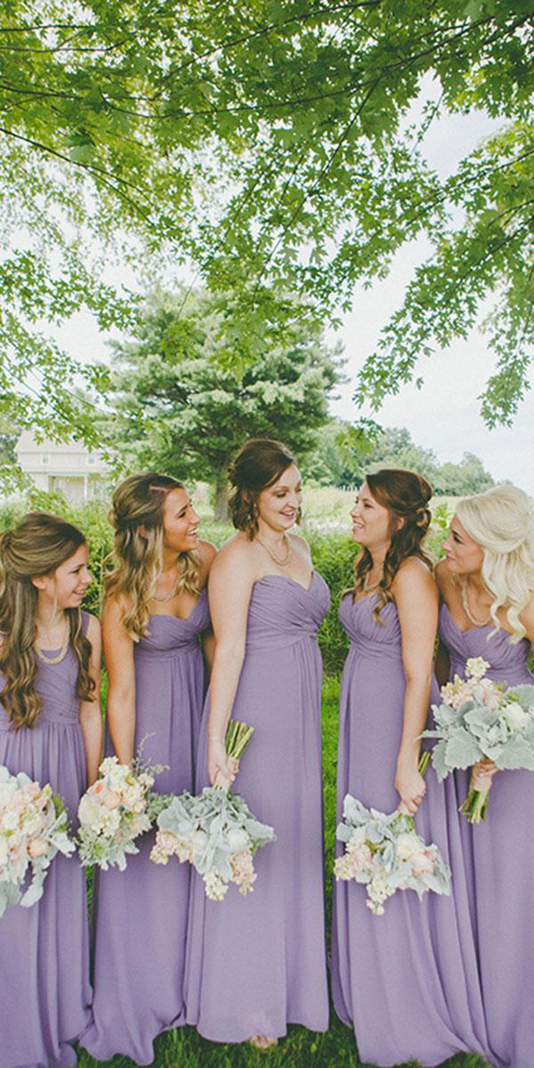 lavender bridesmaid dresses strapless sweetheart long dark cait rose photography