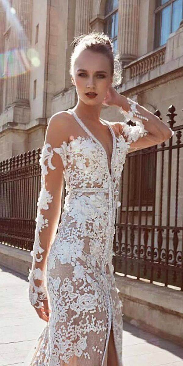 long sleeve wedding dresses sweetheart lace miriams bride