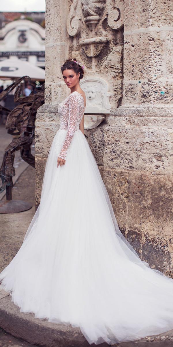 lorenzo rossi weddding dresses 2018 asymmetric pearl romantic