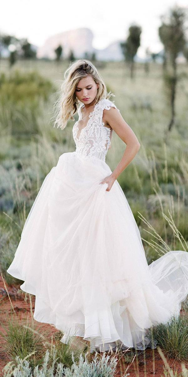 made with love wedding dresses a line with cap sleeves lace top 2018