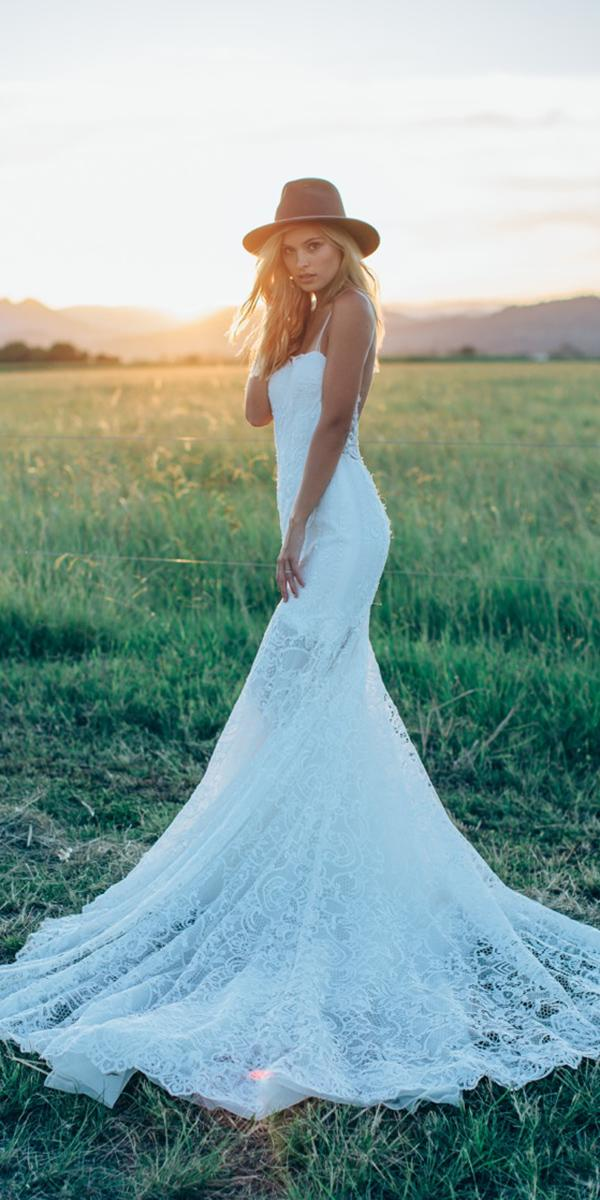 made with love wedding dresses sheath with spaghetti straps lace for beach 2018