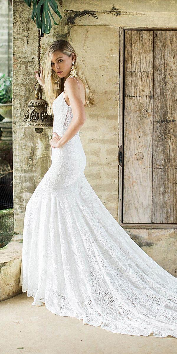 mermaid sexy lace wedding dresses 2018 by made with love