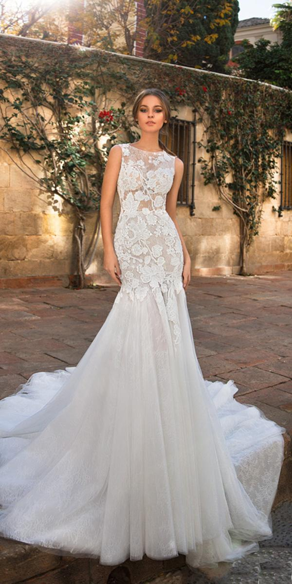 mermaid giovanna alessandro wedding dresses floral lace sleeveless