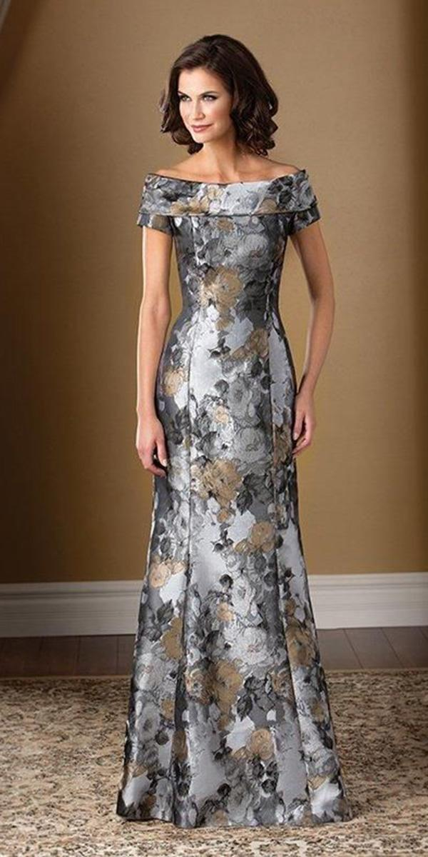 summer mother of the bride dresses long portrail neckline jade couture