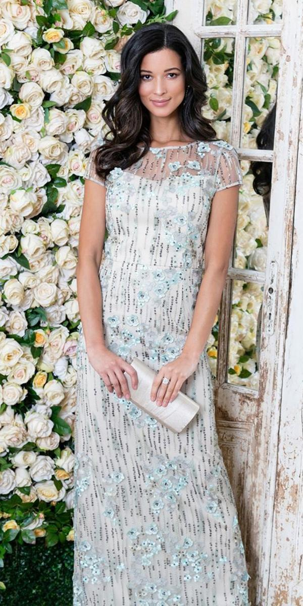 summer mother of the bride dresses long with cap sleeeves sequins alex evening