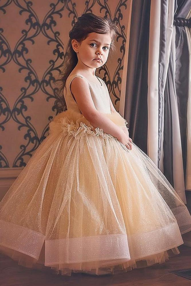 tutu flower girl dresses blush with tulle skirt sequins ittybitty toes