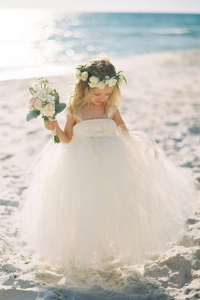tutu flower girl dresses country beach tulle skirt