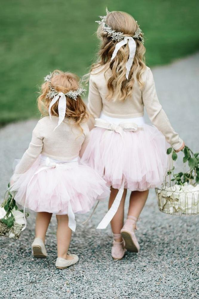 tutu flower dresses pink skirt tulle with bow studio 1208