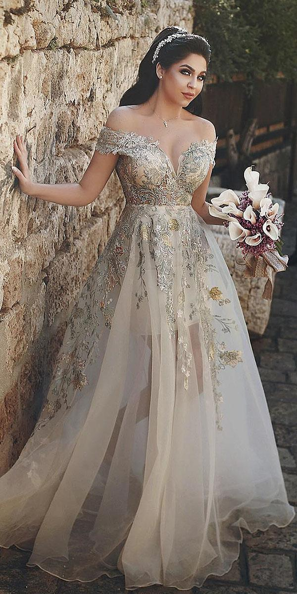 a line wedding dresses off the shoulder sweetheart floral embellishment said mhama photography