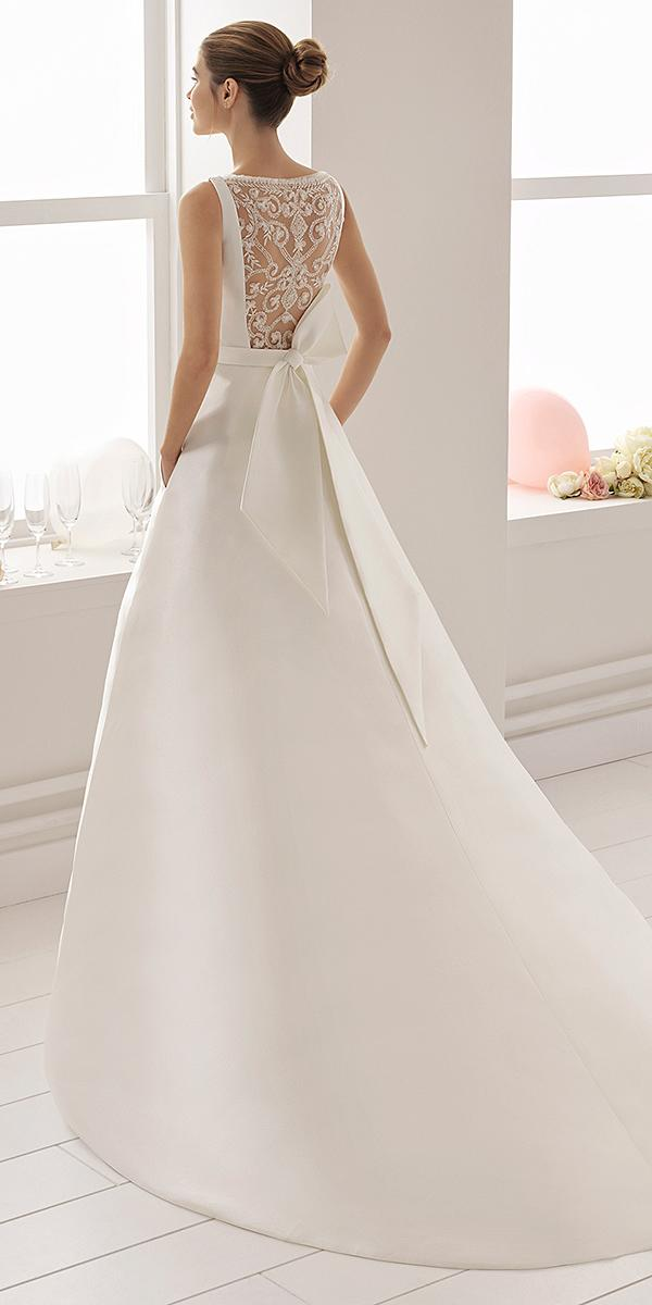 aire barcelona wedding dresses a line with bow lace back 2018