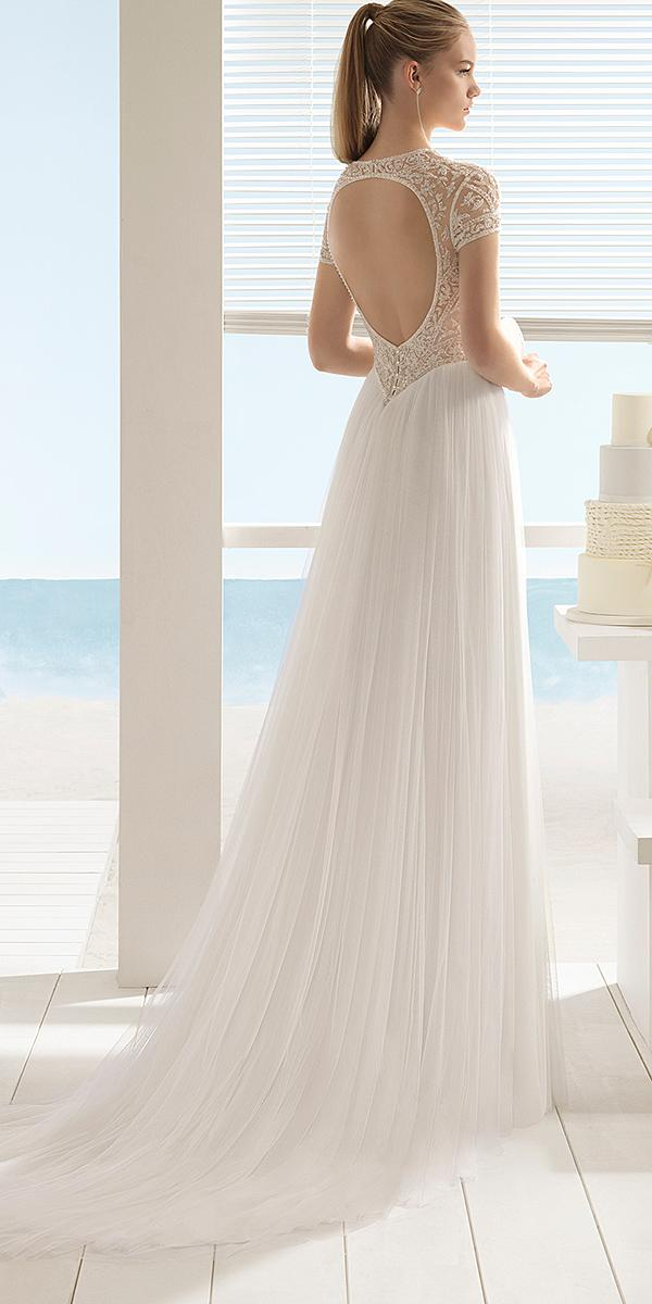 aire barcelona wedding dresses a line with cap sleeves open back beach summer 2018